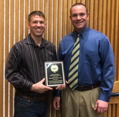 Dr. Christopher Couture and NHATA President Ben Towne